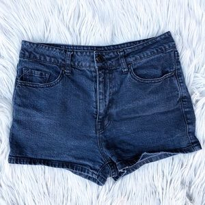 BDG / High Rise Black Faded Denim Shorts